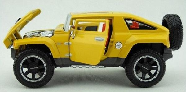 โมเดลรถยนต์ โมเดลรถเหล็ก 2008 Hummer HX 6