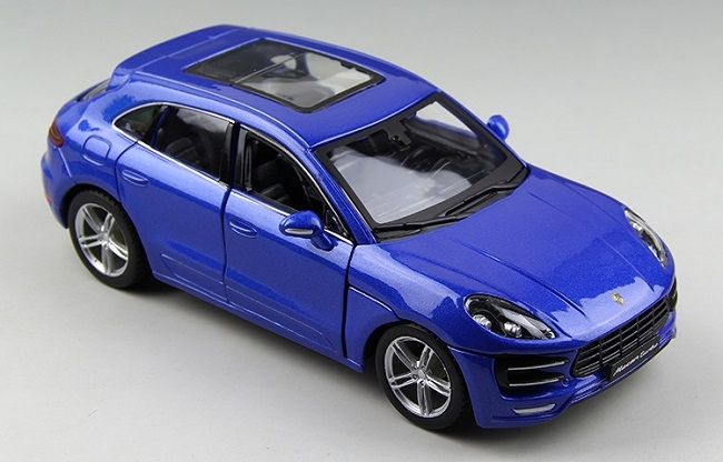 โมเดลรถ โมเดลรถยนต์ โมเดลรถเหล็ก porsche Macan blue 2