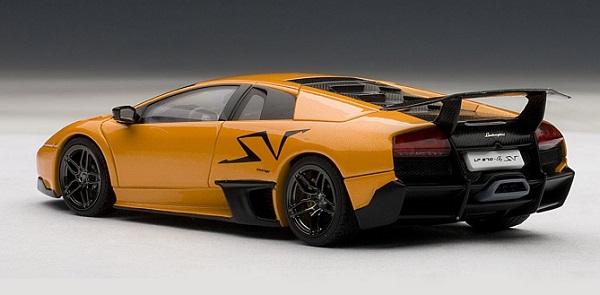 โมเดลรถ โมเดลรถยนต์ โมเดลรถเหล็ก lamborghini LP670-4 SV orange 2