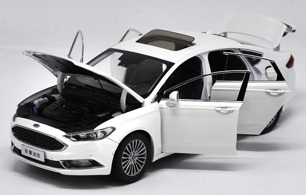 โมเดลรถ โมเดลรถเหล็ก โมเดลรถยนต์ Ford Mondeo 2017 ขาว 3