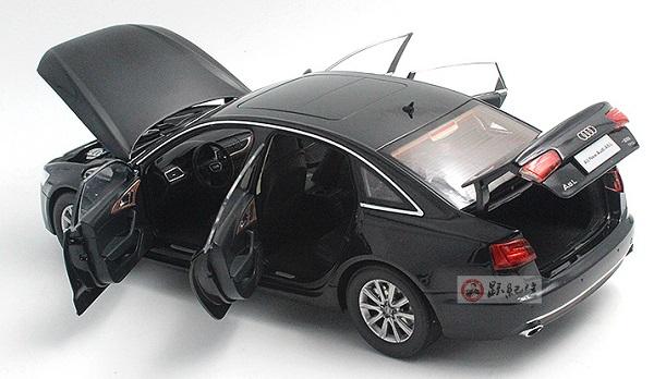 โมเดลรถ โมเดลรถเหล็ก โมเดลรถยนต์ audi A6L black 5