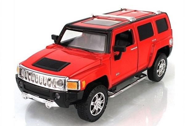 โมเดลรถเหล็ก โมเดลรถยนต์ Hummer H3 1