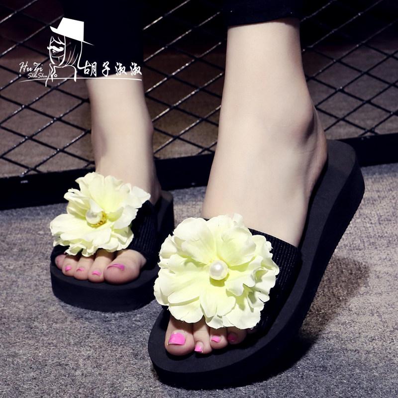 รองเท้าแฟชั่น รองเท้าแตะ รองเท้ามัฟฟินSummer high-heeled sandals