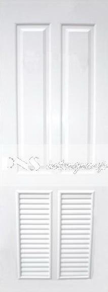 ประตู upvc รุ่น v-series บานเกล็ด PL005 ขนาด 80x200