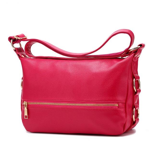 [ Pre-Order ] - กระเป๋าแฟชั่น สะพาย สีชมพูบานเย็น ทรงสี่เหลี่ยมใบกลางๆ ดีไซน์สวยเรียบหรู ดูดี งานหนังคุณภาพ คุ้มค่าการใข้งาน