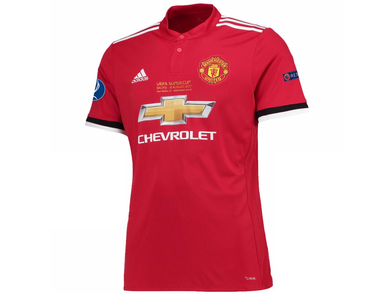 เสื้อแมนเชสเตอร์ ยูไนเต็ด 2017 2018 ทีมเหย้า UEFA Super Cup 2017 รอบสุดท้ายของแท้