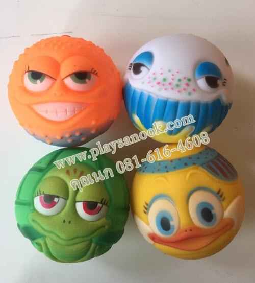 PS-2041 ลูกบอลมีเสียงรูปสัตว์ (1 ชุดมี 4 ลูก)