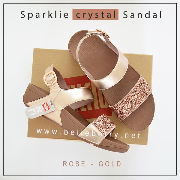 FitFlop : Sparklie Crystal Sandal : Rose Glod : Size US 8 / EU 39