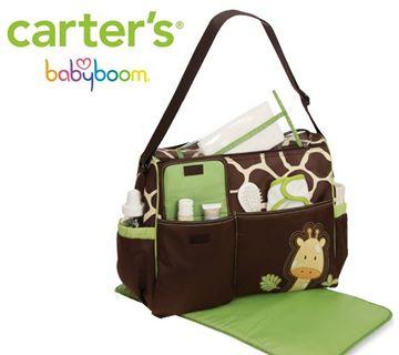 กระเป๋าคุณแม่ ลายยีราฟ carter's สีเขียว