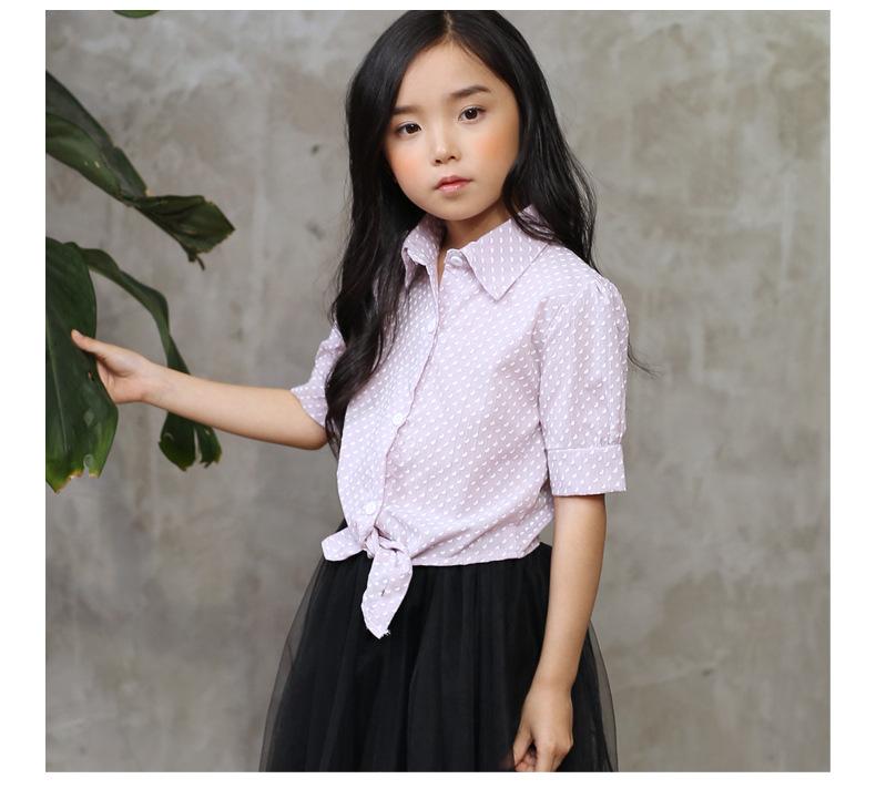 pr2855 เสื้อเชิร์ต เด็กโต 140-160 3 ตัวต่อแพ็ค