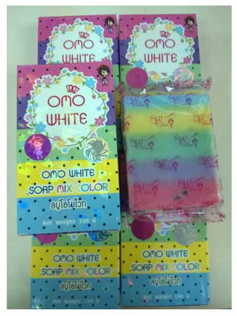 สบู่โอโม่พลัส Omo Plus Soap Mix Color