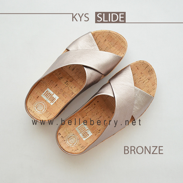 * NEW * FitFlop : KYS Slide : Bronze : Size US 5 / EU 36