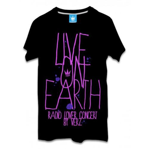 เสื้อผ้าผู้ชาย | เสื้อยืดแฟชั่น เสื้อยืด VERz ลาย Live on earth