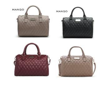 กระเป๋าแบรนด์ MNG MANGO QUILTED BOWLING (SPEEDY) BAG ป้าย