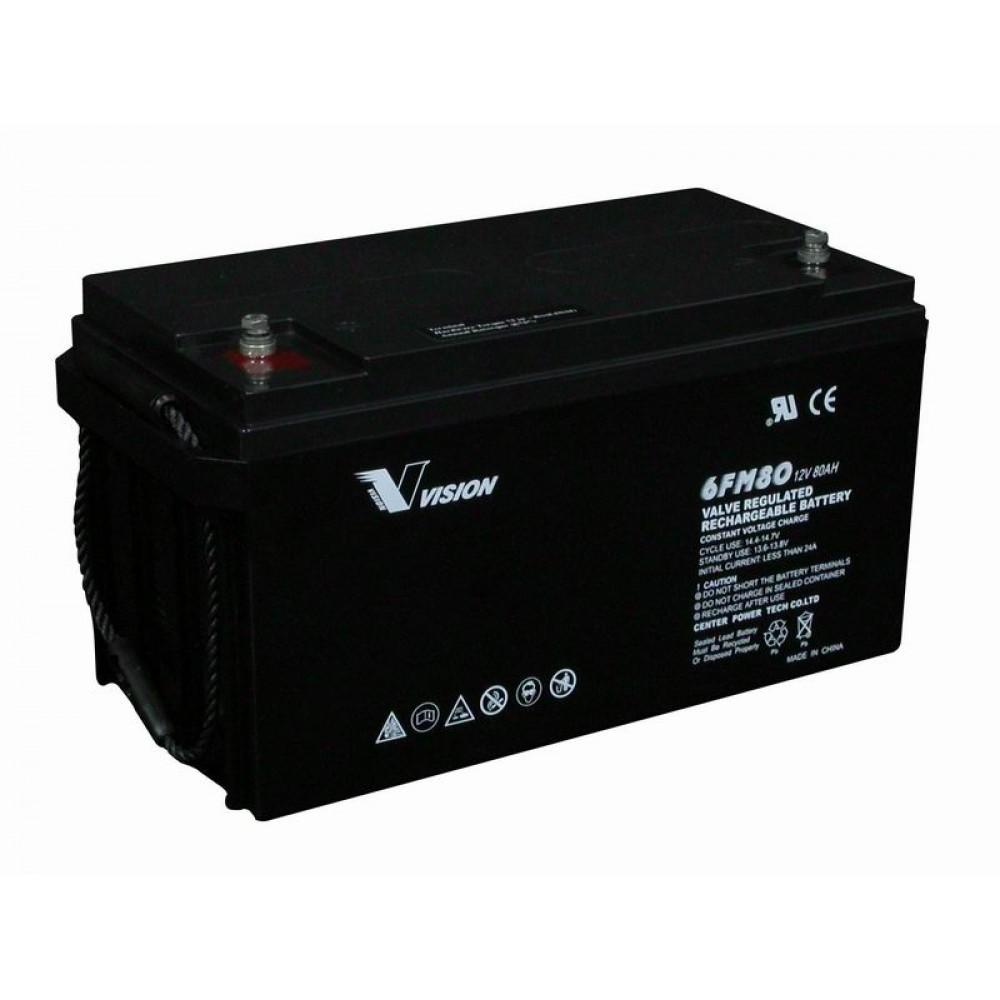 แบตเตอรี่ขนาด 80Ah 12V ชนิด Deep Cycle - AGM