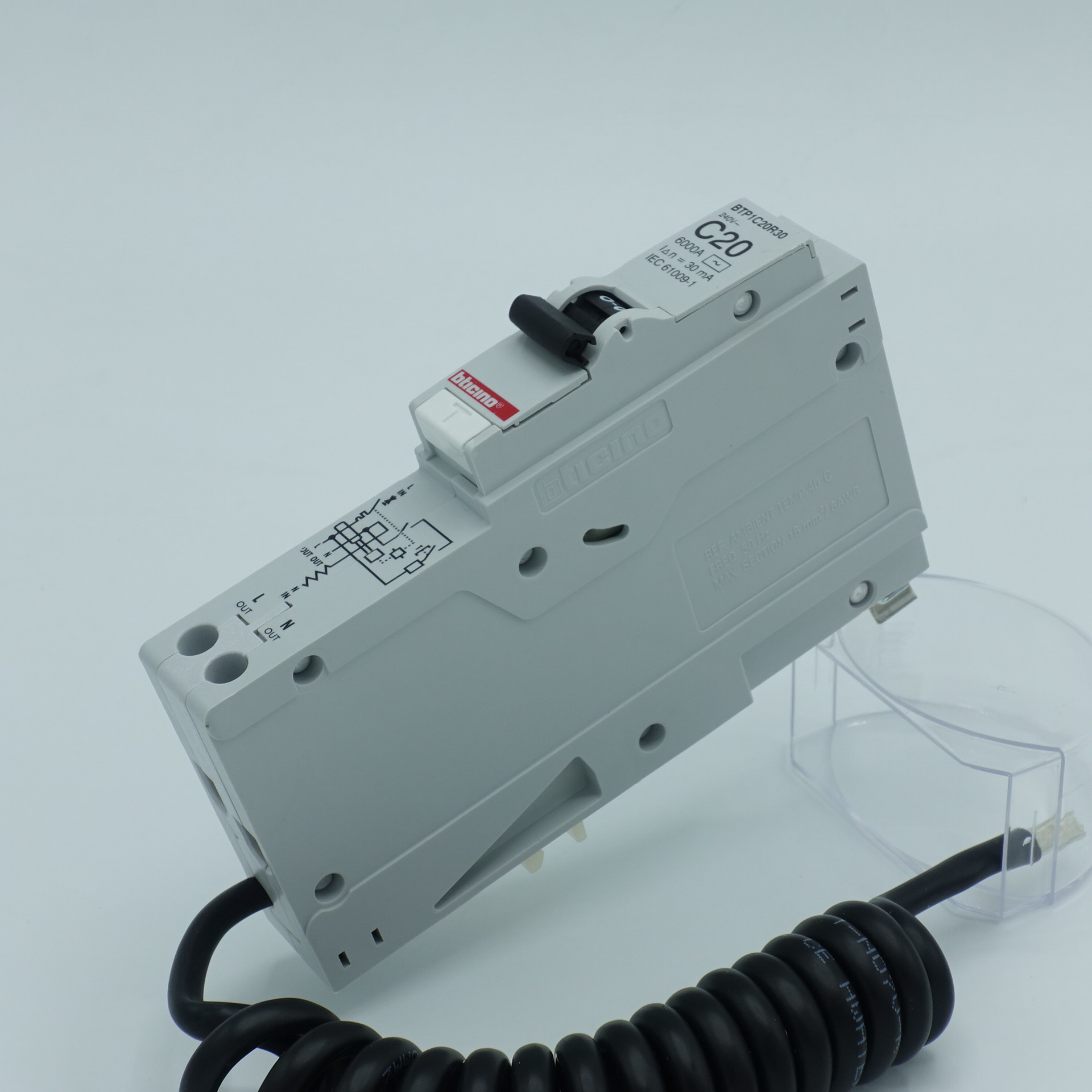 ลูกเบรกเกอร์ย่อย 1P กันไฟดูด (RCBO) 16-32A 30mA Bt-Plug (PRO)