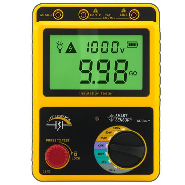 เครื่องทดสอบฉนวน (Digital Insulation Tester) ยี่ห้อSmart Sensor รุ่น AR907+ 1000MΩ