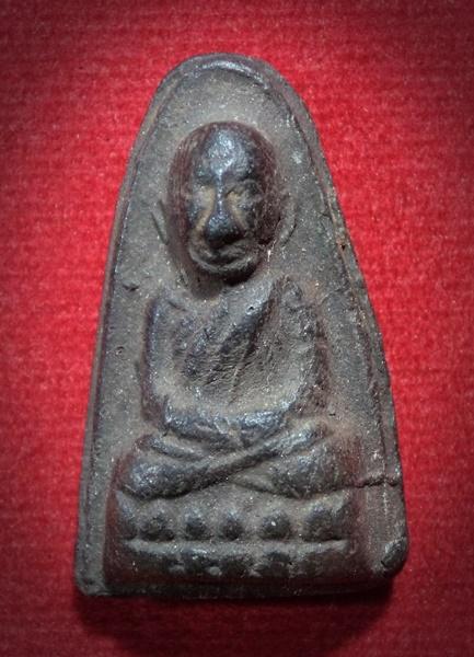 หลวงปู่ทวดเนื้อดินเผา (ผสมผงว่านหลวงปู่ทวด ปี2497) พระครูใบฎีกาขาว รกุขิตธมุโม วัดช้างให้ จ.ปัตตานี ปี 2513