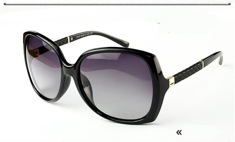แว่นตาหรูกันแดดสำหรับสุภาพสตรีสไตล์เกาหลีใหม่ รุ่น CH9110 มี 6 แบบ สีดำ