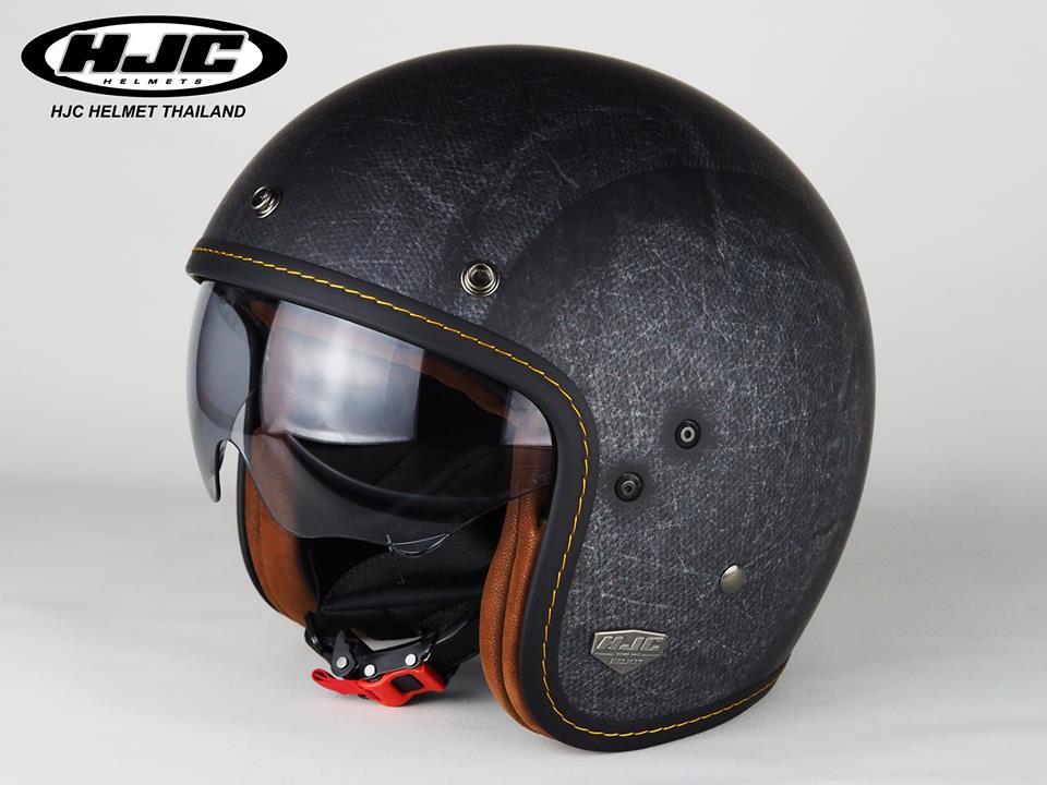 HJC FG70S Vintage Flat Black