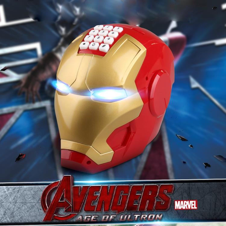 KA046 กระปุกออมสิน ตู้เซฟ ดูดเงินอัตโนมัติ ไอรอนแมน Iron man