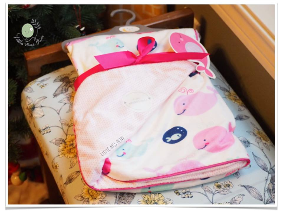 ผ้าห่มSWEET LULLABY ลาย Whale (pink)