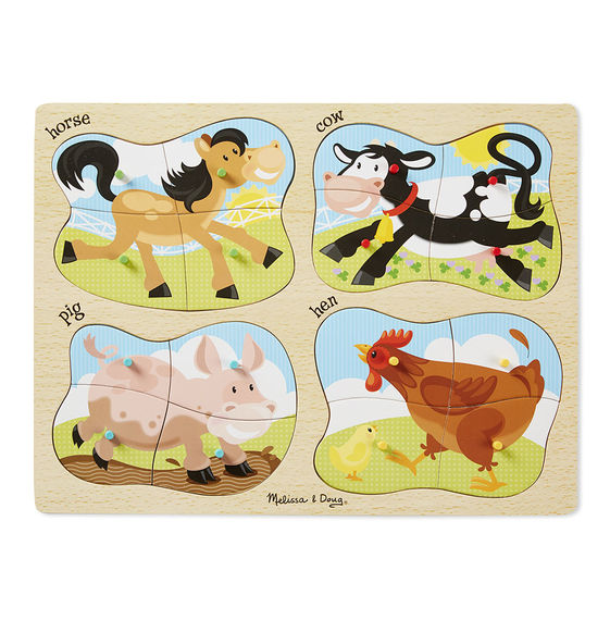 4 in 1 Peg Puzzle Farm