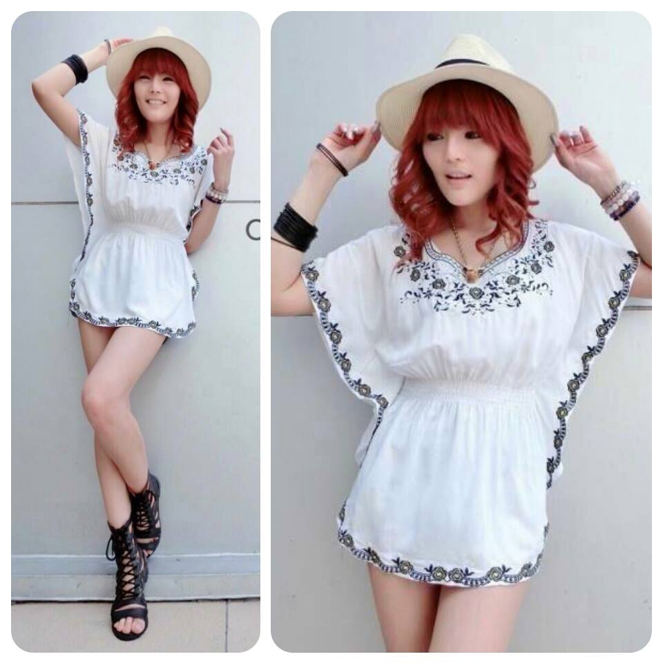 Rosy Embroidery Blouse C150-48A04