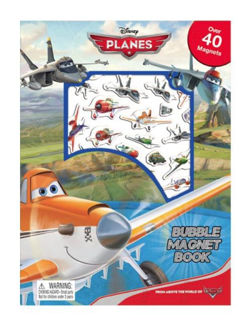 Bubble Magnet Book Plane