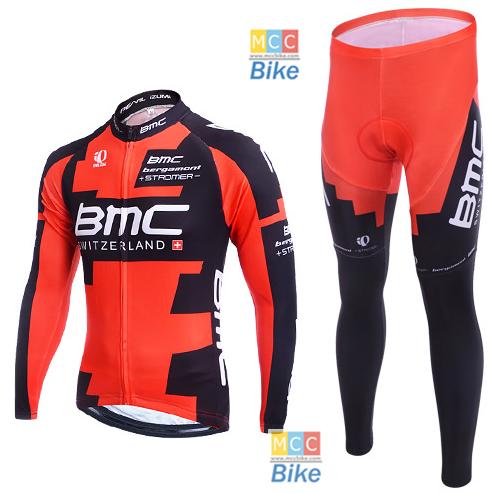 ชุดปั่นจักรยาน แขนยาว BMC ขนาด M พร้อมส่ง ฟรี EMS