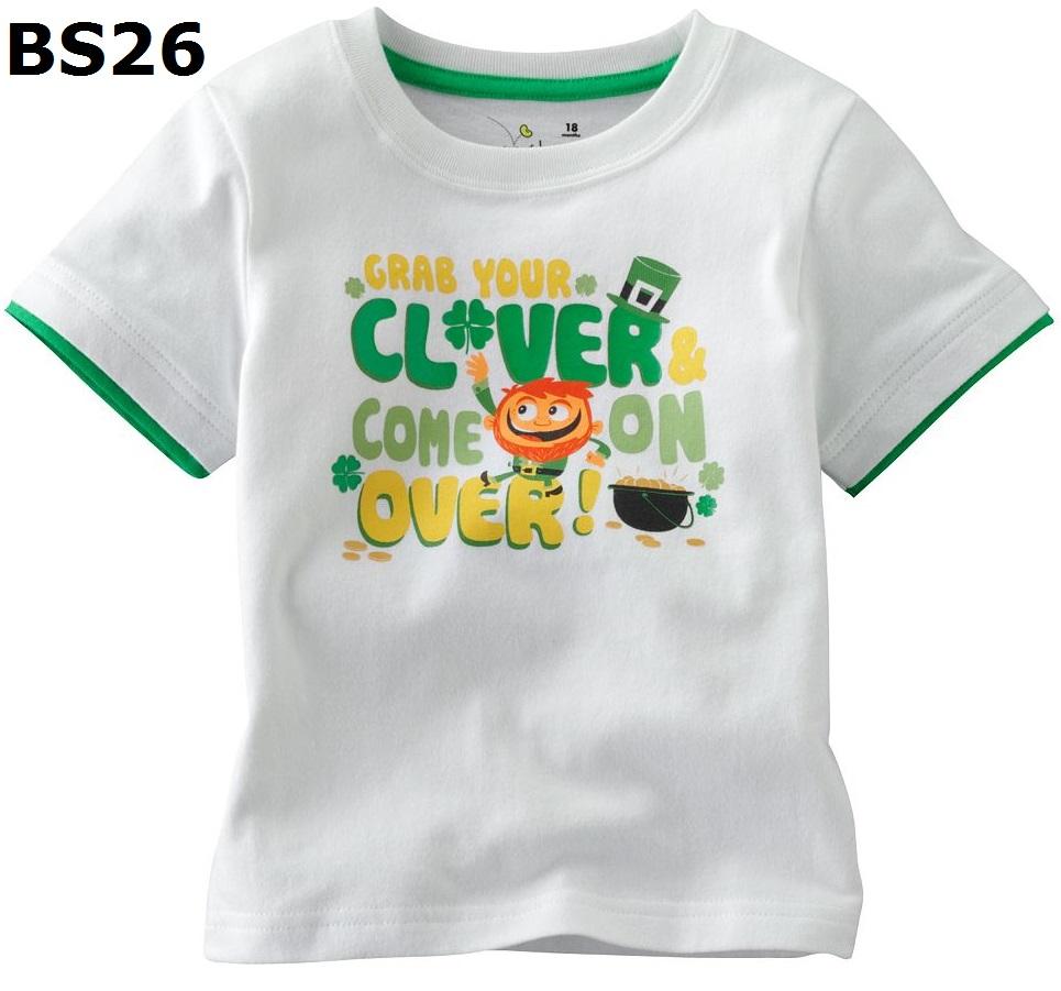 BS26 เสื้อยืดแขนสั้น ไซส์ 3T เนื้อผ้าดีมาก หนา และนิ่มสุดๆ สำหรับเด็กอายุประมาณ 2-3ขวบ
