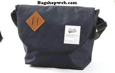 กระเป๋า ANELLO POLYESTER CANVAS SHOULDER BAG สี Navy