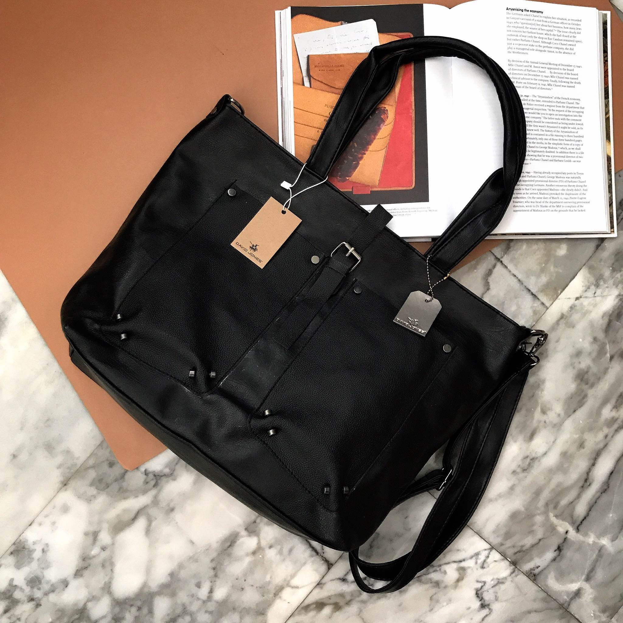 David Jones Cool black ทรง Tote