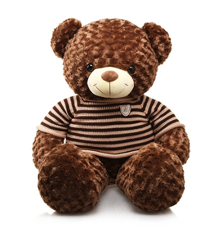 ตุ๊กตาหมีตัวใหญ่ ใส่เสื้อกันหนาว
