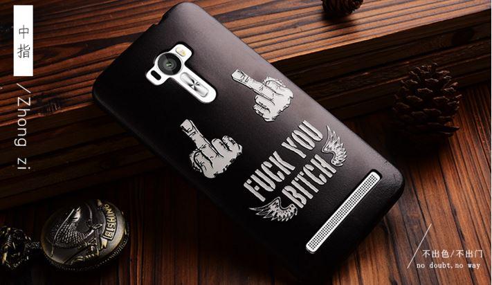 เคส asus zenfone selfie ZD551KL TPU พิมพ์ลาย 3D FUCK YOU BITCH