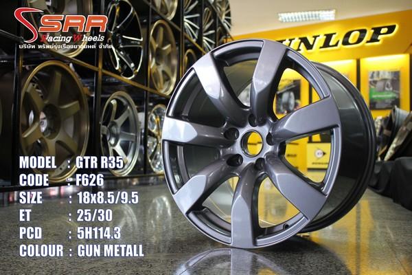 """แม็กซ์ 18"""" GTR R35 5H114.3 กว้าง8.5-9.5 ล้อใหม่"""