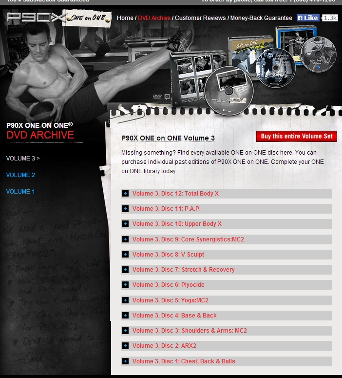 90X One on One with Tony Horton: For P90X Grads, Collector's Edition, Vol. 3 - 6 Workout DVDs
