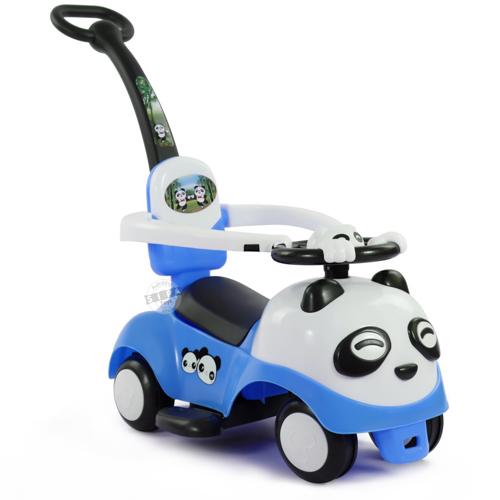 รถขาไถแพนด้า 2 in1 (รถขาไถ +รถเข็น) สีฟ้า ฟรีค่าจัดส่ง