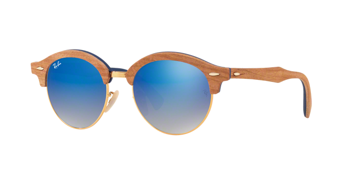 Ray Ban RB4246 11807Q GOLD Grey Gradient Brown Mirror Blu