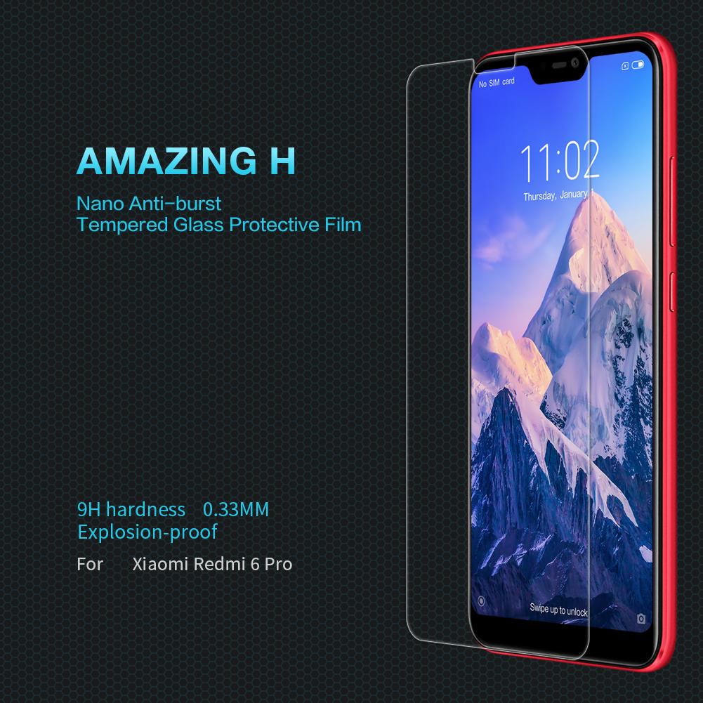 Xiaomi Mi A2 Lite (Redmi 6 Pro) ฟิล์มกระจกนิรภัย Nillkin H บาง 0.3mm (ไม่เต็มจอ)