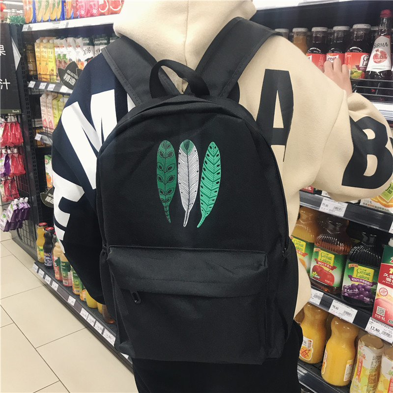 กระเป๋าเป้สะพายหลังสารพัดประโยชน์ สวย ทน เท่ห์ คุณภาพชั้นนำเป็นที่ยอมรับระดับสากล Backpack men fashion trend canvas travel bag computer bag junior high school students Korean version of the school bag