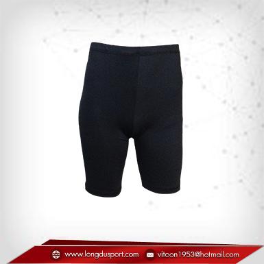 กางเกงรัดกล้ามเนื้อ ขาสั้น สีดำ