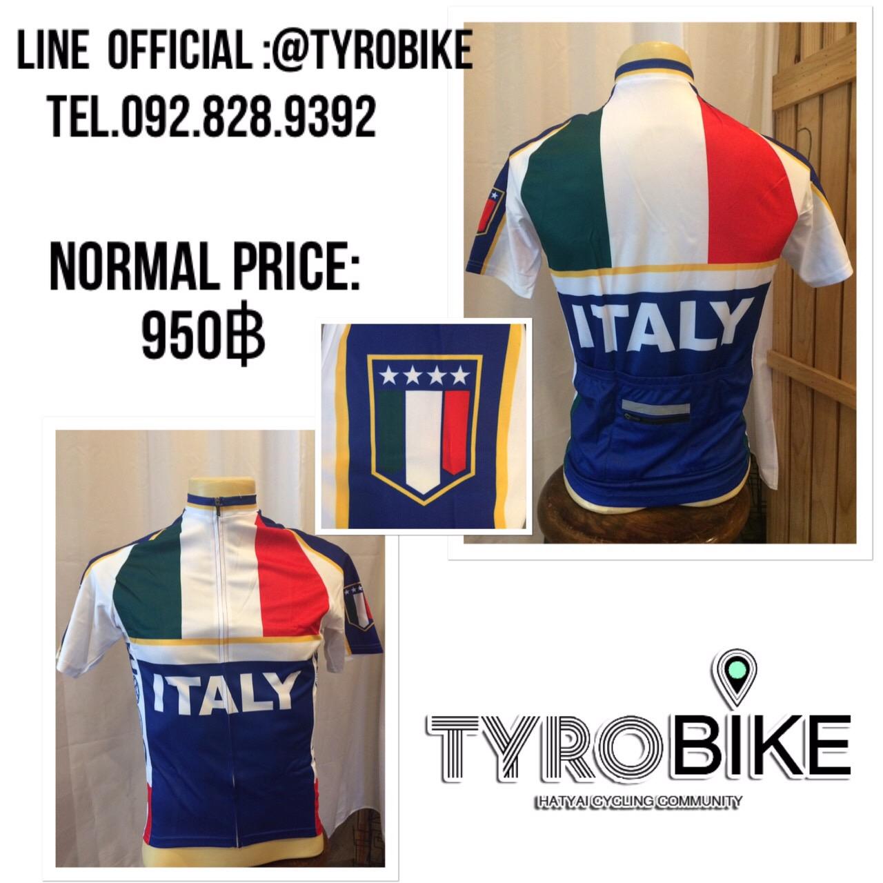 BCR-53 เสื้อปั่นจักรยานลายอิตาลีแขนสั้น