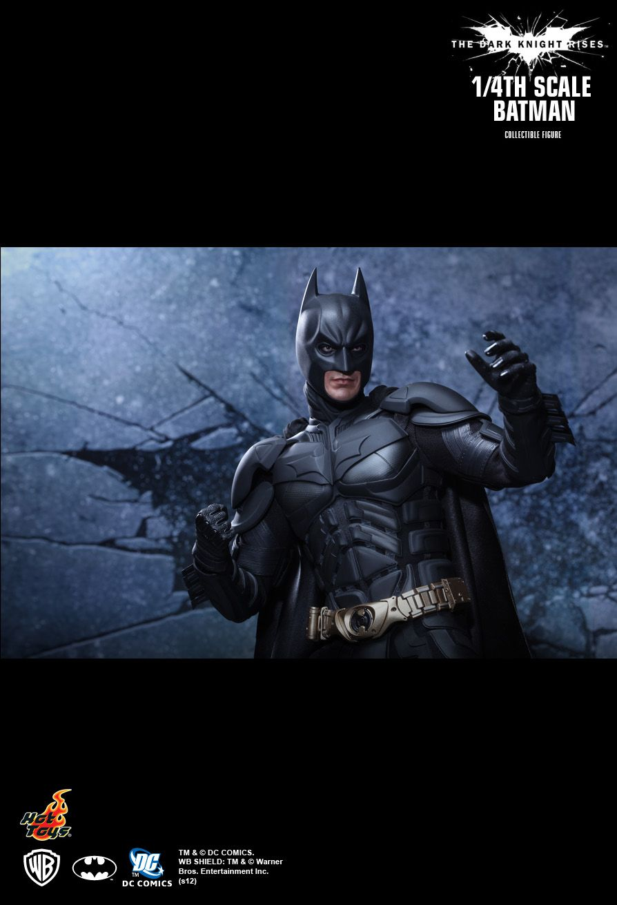 HOT TOYS QS001 The Dark Knight Rises - 1/4th scale Batman