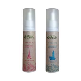 สเปรย์สลายกลิ่น กรีนเซ้นส์ ออแกนิค NEW GreenScents Organic PARIS Blossom & LONDON Spring