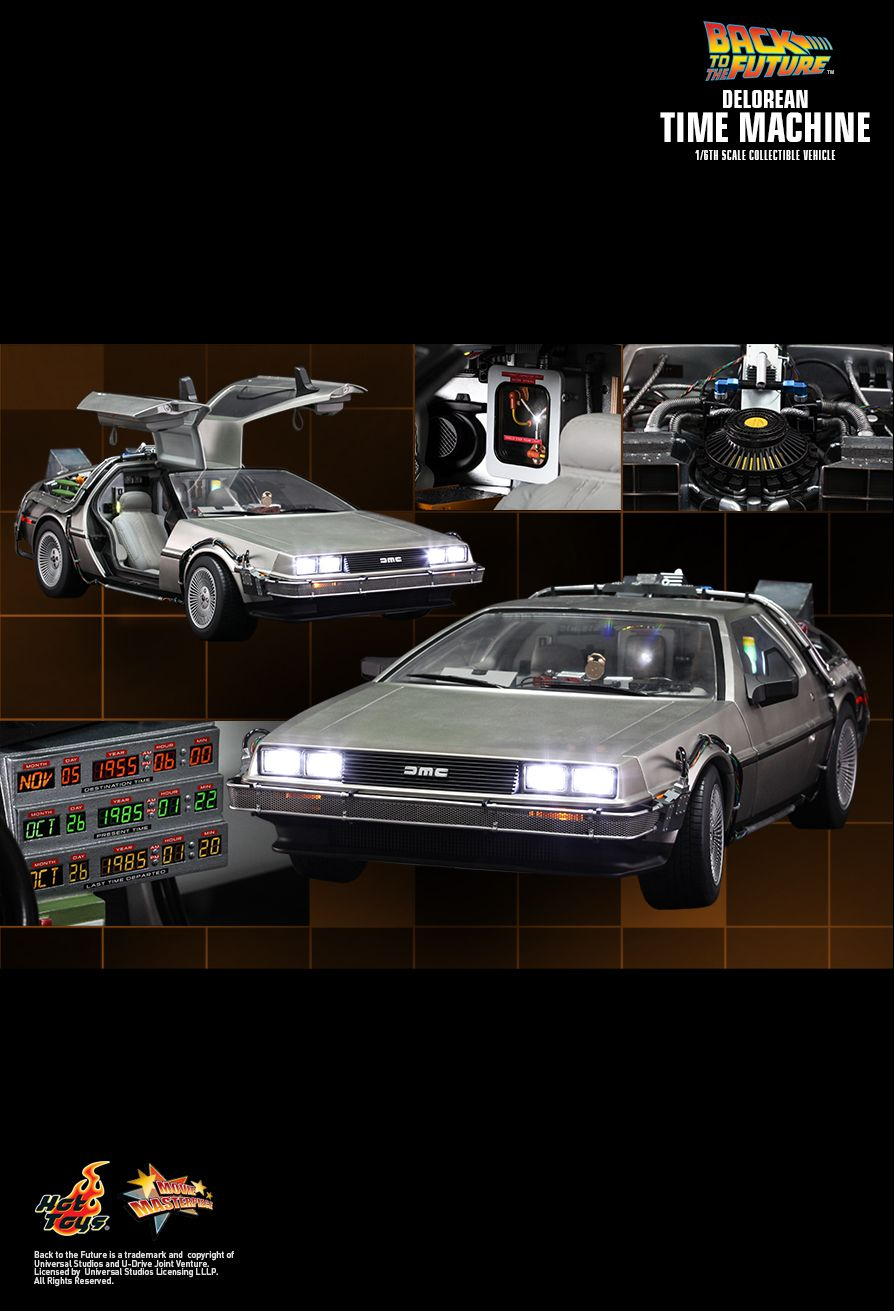 Hot Toys MMS260 BACK TO THE FUTURE: DELOREAN TIME MACHINE VEHICLE