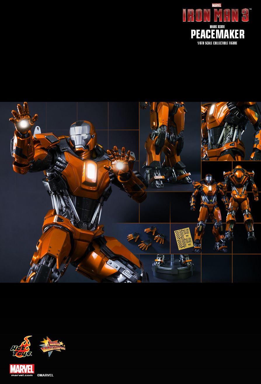 Hot toys MMS258 Iron Man 3 - Peacemaker (Mk. XXXVI)