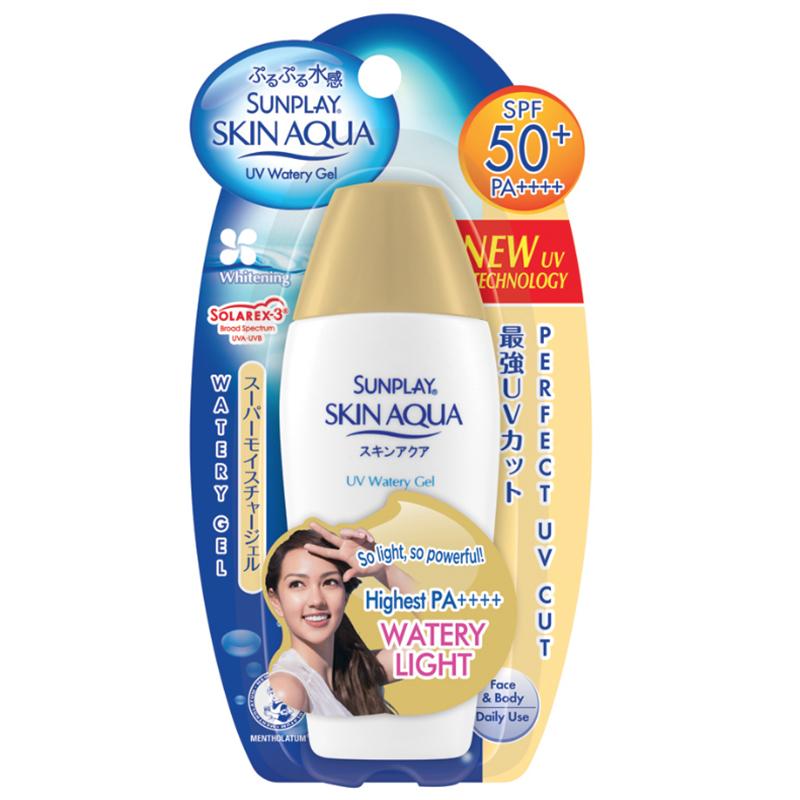 Sunplay Skin Aqua UV Watery Gel SPF50+ PA++++ ซันเพลย์ สกิน อะควา ยูวี วอเตอรี่ เจล เอสพีเอฟ50+ พีเอ++++ 80 มล.