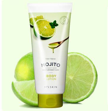 **พร้อมส่ง**It's Skin The Fresh Body Lotion #Mojito 250ml. โลชั่นทาผิวกายให้ผิวกายขาวกระจ่างใส มีส่วนผสมของมะนาว Mojito เพิ่มวิตามินซีให้ผิวกาย ช่วยลดเลือนจุดด่างดำ เร่งการผลัดเซลล์ผิวตามธรรมชาติ ให้ผิวขาวกระจ่างใส สวยนุ่มชุ่มชื่น พร้อมกลิ่นหอมมะนาวส