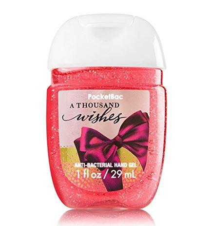 **พร้อมส่ง**Bath & Body Works A Thousand Wishes PocketBac Sanitizing Hand Gel 29 ml. เจลล้างมือขนาดพกพาแบบไม่ต้องใช้น้ำ สูตรแอนตี้แบคทีเรีย ฆ่าแบคทีเรียได้ 99.9% กลิ่นมะนาวผสมวนิลลา หอมนุ่มสดชื่น ,